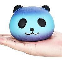 Isuper Soft Squishy Toys, Squishy Panda Kawaii Soft Galaxy Chignon Animal Jouets 10 cm