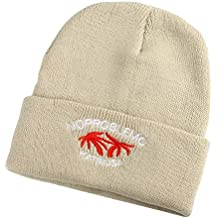 BHYDRY Unisex Gorra o pasamontaña de algodón Color Puro con pompón de Pelo  Mapache Genuino otoño 10f3867f63d