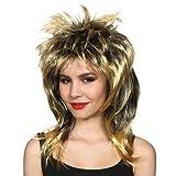 """Une longue perruque de cheveux blonds semblable à la splendide crinière de la célèbre """"Queen of Rock'n Roll"""" pour adulte. Ideal pour les enterrements de vie de jeune fille."""