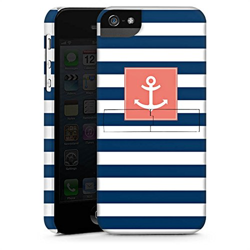 Apple iPhone 6s Hülle Case Handyhülle Anker Streifen Maritim Premium Case StandUp