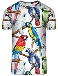 TrendClub100 Guru Shirt Exotischer Regenbogen Papagei