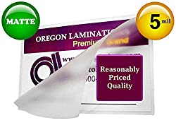 Matte Double Letter Laminating Pouches 5 Mil 11-1/2 x 17-1/2 (Pack of 100) Small Menu