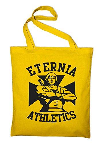 Eternia Athletics Motu, He-Man Jutebeutel, Beutel, Stoffbeutel, Baumwolltasche Gelb