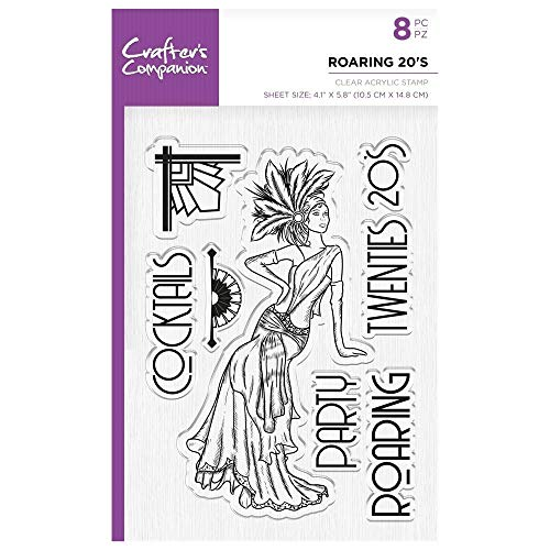 Crafters Companion Unmounted Clear Acrylic Stamp - Vintage - Roaring 20's