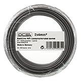DCSk 100m - 2x4mm² Lautsprecherkabel schwarz | OFC Kupferkabel für HiFi/Audio | 99,99% Kupfer Boxenkabel mit Isolierung