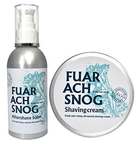 The Executive Shaving Company Fuar Ach Snog Minty Crème de Rasage 200ml et Baume Après-rasage 150ml