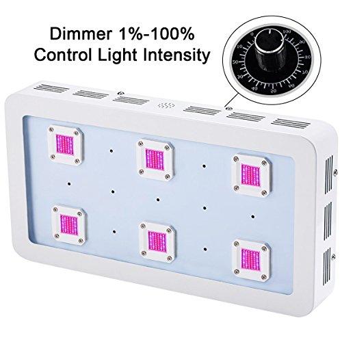 Pflanzenlampe,BESTVA X6 1800W verstellbare COB LED Grow Licht Vollspektrum LED Wachstumslampe Pflanzenlicht für Treibhaus Zimmerpflanzen Hydrokultur Gemüse und Blumen(Weiß)