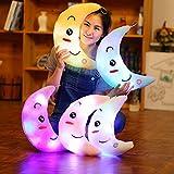 LED Leuchtend Kinder Plüschtiere Mond Kissen Kinderzimmer Weihnachten Baum Dekoration (Lila)