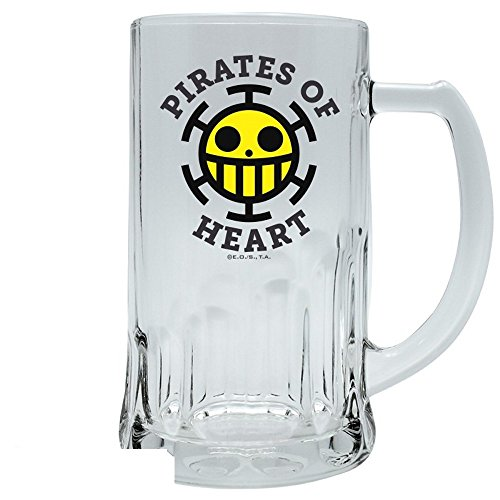 One Piece - Glas Bierkrug - Pirates of Heart - Trafalgar Logo - 500 ml
