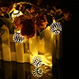 #6: Fancy 40 LED Yellow Color Moroccan Balls String Decorative Lights Series (LADI) MADE IN INDIA | Festival Lamp Creative Gift Diwali Christmas Wedding Party Event