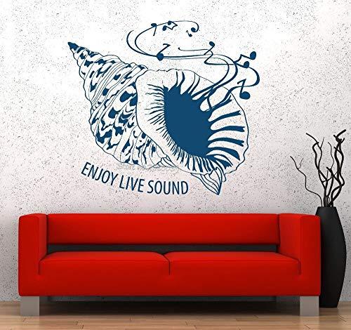 Seashell Sea Wall Vinyl Abnehmbare Musik Genießen Sound Garantiert Wandaufkleber Zitate Qualität Aufkleber Jungen Zimmer Kunst Aufkleber Neue 56 * 62 cm