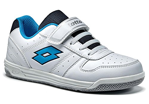 Lotto, SET ACE XI CL SL, Unisex-Kinder Sportschuh Weiß (WHITE/BLUE ATLANTIC)