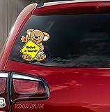 Autocollant couleur Sticker adhésif ourson bébé à bord par Kdosublim