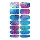 Nail Art Sticker - TOOGOO(R)1 sheet 3D Women Nail Art Blue Ocean Drops Water Transfer Nail Sticker Nail Wraps Foil Decals