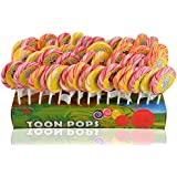 Toonpops Cartoon Lollipops Assorted Fruity Flavoured Candy - Pack 60 Pcs - 1500 G