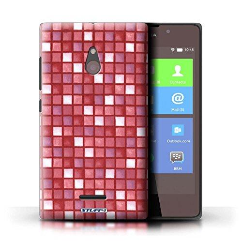 Kobalt® Imprimé Etui / Coque pour Nokia XL / Bleu/Blanc conception / Série Carreau Bain Rouge