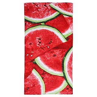 Strandtuch, 100% reine Baumwolle, Wassermelonen-Design, 75x150cm