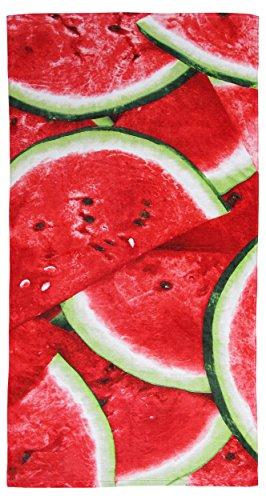 100% Pure Cotton Watermelon Summer Beach Towel - Modern Design, 75x150cms