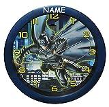 Unbekannt Uhr Batman  The Dark Knight  incl. Namen - 29 cm groß Wanduhr - für Kinderzimmer Kinderuhr - Analog Jungen Bruce Wayne Fledermaus Mann Comic Held Aktion