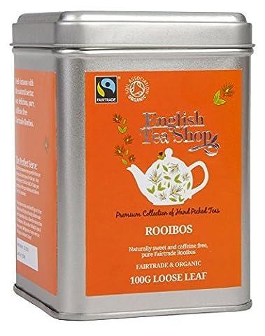 English Tea Shop Rooibos Fairtrade and Organic Loose Tea 100