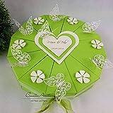 Hochzeitsgeschenk - Schachteltorte m. Schmetterlingen & Blumen - Butterfly MAIGRÜN - Geldgeschenk, Geschenkidee Hochzeit