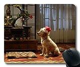 Gaming-Mousepads, Taco Dog Weihnachtshund, Präzisionsnaht, haltbare Mausunterlage