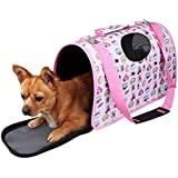 Lalawow Pet Carrier Bags Kennel, Oxford, Easy To Clean, Folding, Mesh, Antislip, With Shoulder Belt