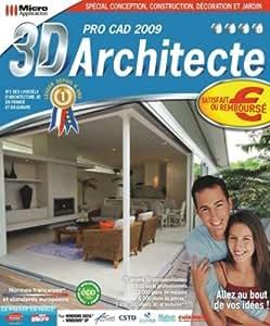 3d architecte pro cad 2009 logiciels for Architecte 3d aide
