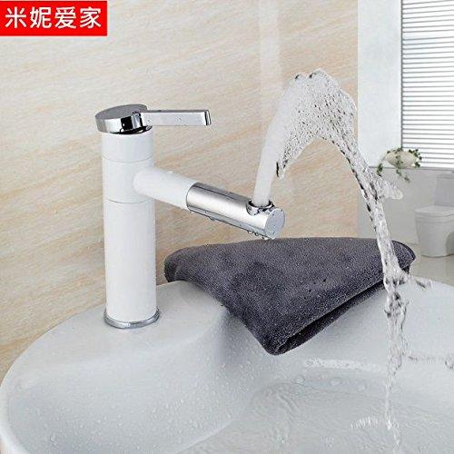 Preisvergleich Produktbild Qwer kontinentale Becken Mischbatterien Squirt 360 Grad der White-wash Waschbecken Wasserhahn zu drehen.