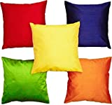 #8: Czar Home Multicolor Silk Cushion Cover 12
