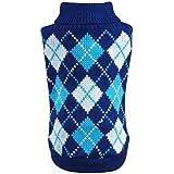 YiJee Haustier Hund Katze Warme Pullover Kleidung Kleine Mantel Teile Blau S