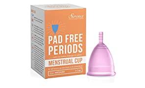 Sirona Reusable Menstrual Cup with no Rashes, Leakage or Odor - Medium