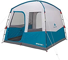 Quechua Hikers Camp 8-Persons SPF 30 Tent Camping with Doors - (Blue)
