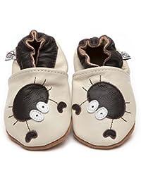 """Suaves Zapatos De Cuero Del Bebé """"Cangrejo"""" 5-6 ans"""