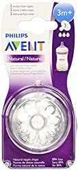 Philips Avent Natural Teat 3 Holes Medium Flow - 3 Months+ (2Pc. Pack)