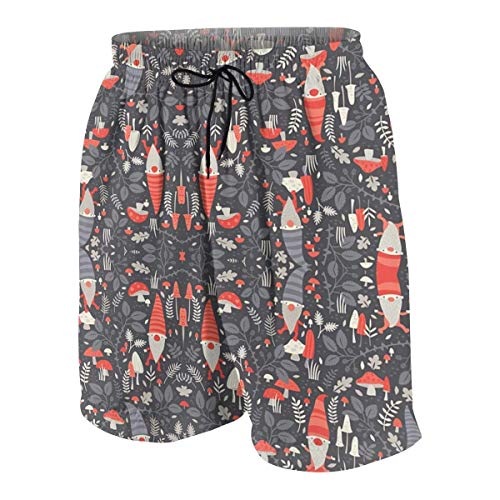 Gnome Outfit - Nordic Gnomes Boys Teens Swim Trunks