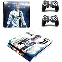 CIVIQ Juventus Cristiano Ronaldo PS4 Slim Skin Sticker Decal for Playstation 4 Console and 2 Controller