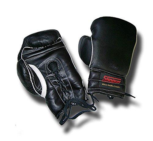 Shogun Gants de Boxe Professionnelle en Cuir: Lacets 12 oz, Grande Taille -Livraison Gratuite