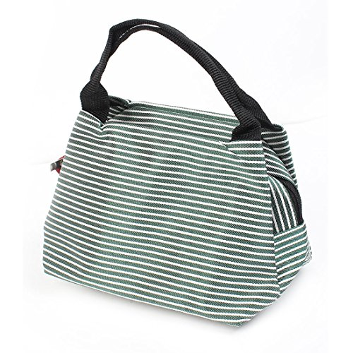 FOREVER YUNG Green White Stripes Printed Cosmetic Bag Make Up Pouch for (Stripes Pouch)