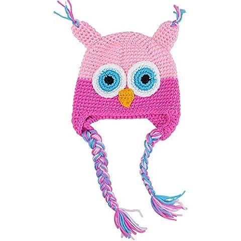 Cappello aderente lavorato a maglia, motivo: gufo, per lettino Baby & Lovely e Cute, diversi (Rib Cap)