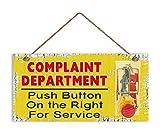 Humorvolle, Beschwerde Abteilung Funny Holz Schild, Mausefalle, Schild für die Büro, wetterfest, 5