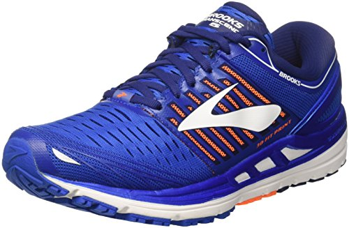 Brooks Transcend 5, Chaussures de Running Homme, Bleu (Blue/Orange/White 1d463), 42.5 EU