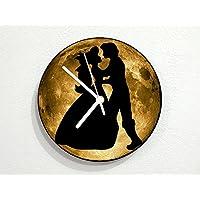 Fairytale Love Dance Couple - Yellow Full Moon - Universe