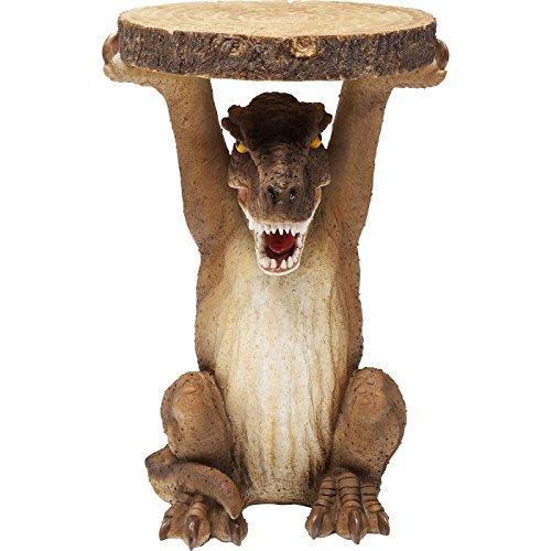 Kare - Mini Dino Animal Auxiliary Table, 83255, small, Dinosaurs Round Table, Table as Animal Figure, wood imitation, polyresin, (Measurements: 35 x 25 x 23 cm