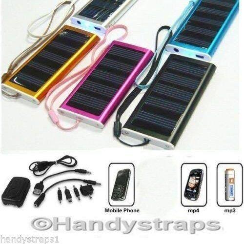 Solar Ladegerät Für Kamera, MP3 Player, MP4 Player LY-G1001 Schwarz (keine micro usb)