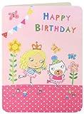James Ellis Kinder Mädchen und Katze Inlineskating Geburtstagskarte