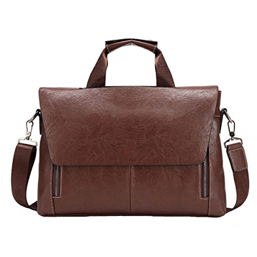 Männer Cross-Computer-Tasche Retro-Stil Aktenkoffer Aktenkoffer Business-Paket Brown2