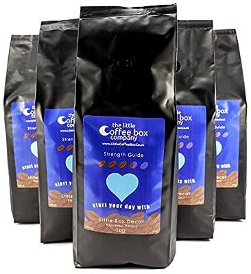 Little Box Decaf Espresso Coffee Beans 6x1kg - 100% Premium Arabica from The Little Coffee Box Company
