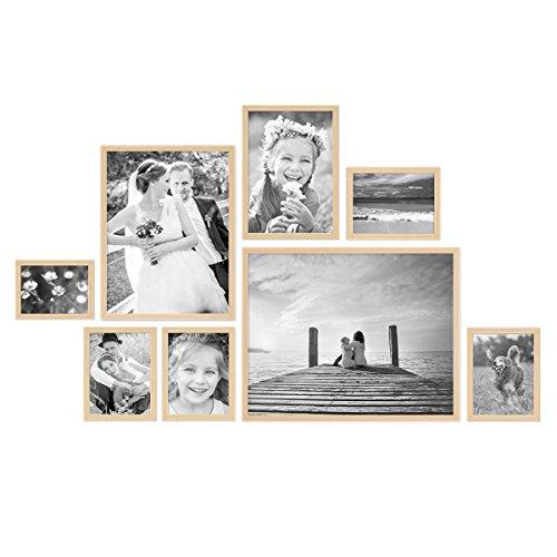 17er Bilderrahmen-Set Modern Schwarz aus MDF 10x15 bis 30x40 cm inklusive Zubehör / Bildergalerie /...