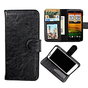 DooDa PU Leather Wallet Flip Case Cover With Card & ID Slots & Magnetic Closure For Nokia Asha 305